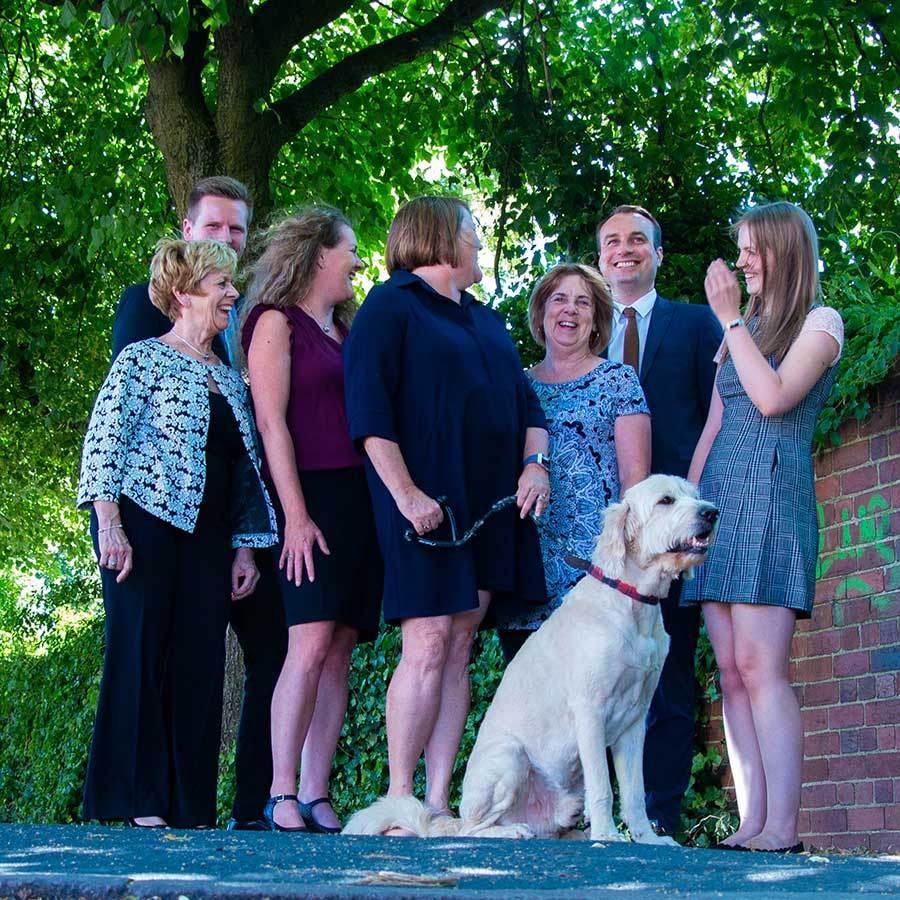 The LJ Hanbury team with Jake the dog - part of my corporate photography package
