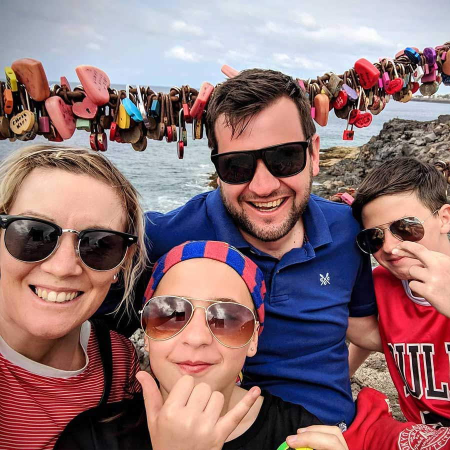 Me and the family in Lanzarote, March 2019 - having a well deserved week away from my dating photographer duties
