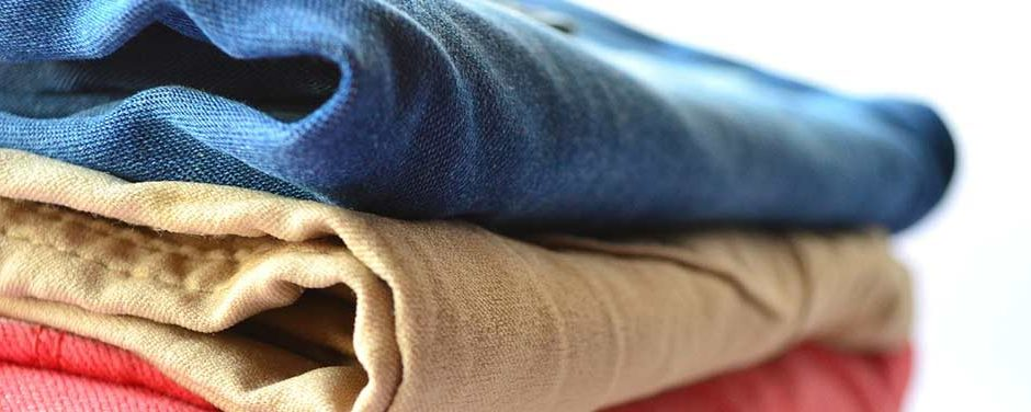 Pile of ironed clothing