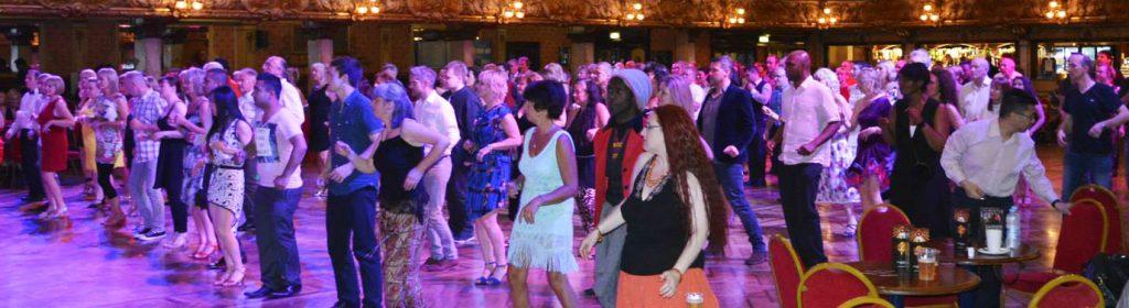Salsa dancing at Blackpool Tower Ballroom