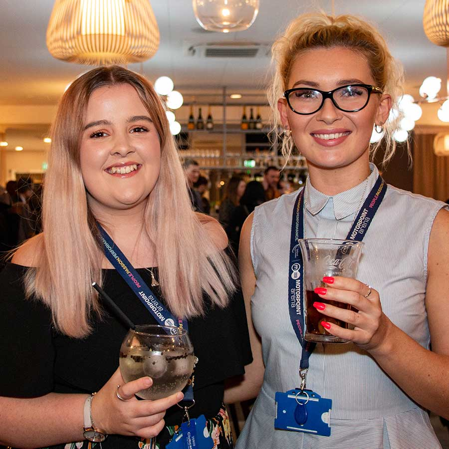 A photo of two guests at the RSViP Networking event at Spotlight Bar and Restaurant, Nottingham