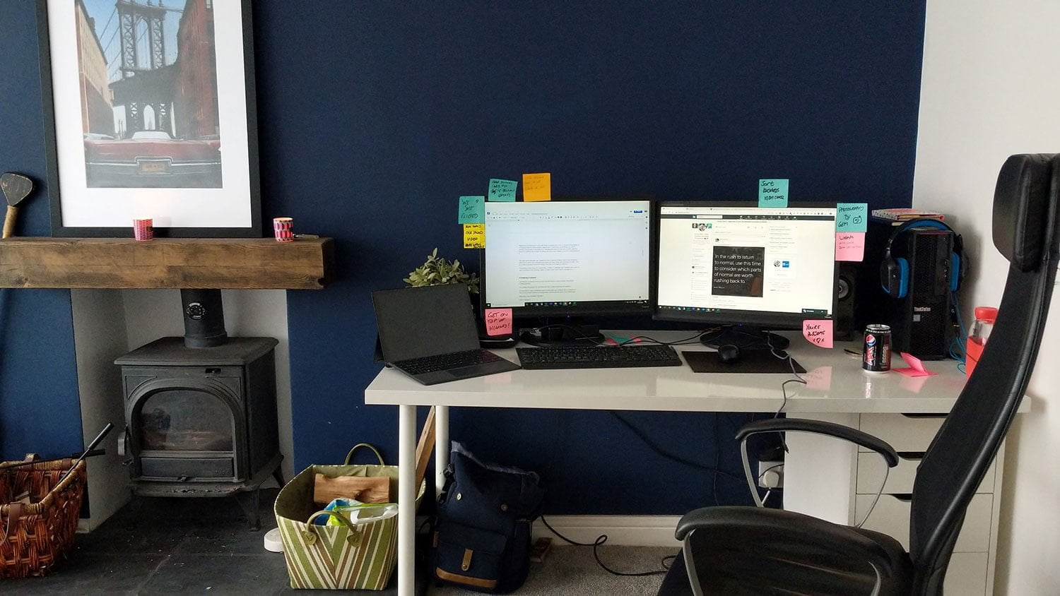 Gemma's creative space - her home office in Nottingham